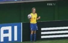 Bayanlar Futbol Maçına Damga Vuran Hareket