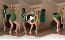 Cansu Taşkın'dan Yeşil Uzaylı Dansı